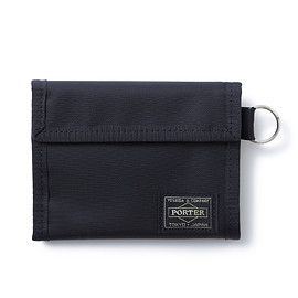 "HEAD PORTER - ""SHATI"" WALLET (M) BLACK/BLACK"