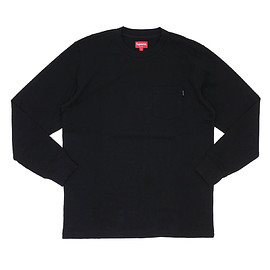 Supreme - L/S Pocket Tee BLACK