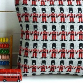 sally nencini - Knitted Lambswool London Soldier Cushion -