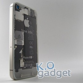 "K.O gadget - ""iPhone for Steve"" Transparent Rear Panel for iPhone 4S / CDMA"