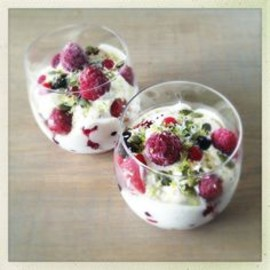 "Berry Breakfast Parfait with Vanilla Cashew ""Yogurt"""