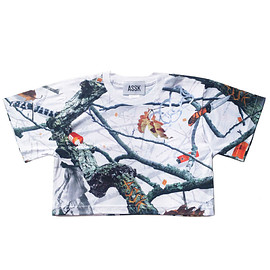 assk - Image of APOCALYPTIC FOREST CROP TSHIRT - White