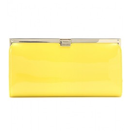 JIMMY CHOO - Camille patent leather clutch