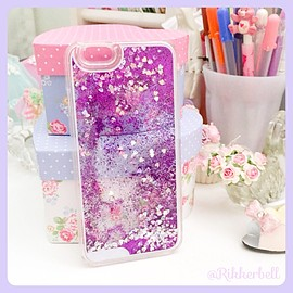 plamode - Glitter Heart iPhone case Purple