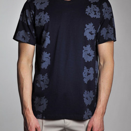 Calvin Klein - Navy Abstract Floral Print T-Shirt