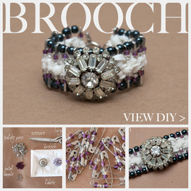 DIY Safety Pin Bracelet with Brooch Feature