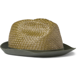 Etro - Etro Cotton-Brimmed Woven-Palm Fedora
