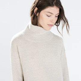 ZARA - OVERSIZED POLO NECK SWEATER from Zara