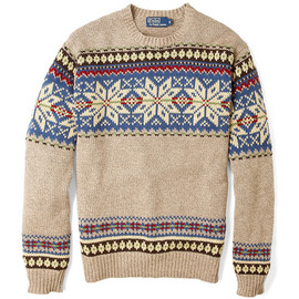 Polo Ralph Lauren - Beige Snow Pattern Cotton Knit