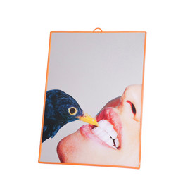 "SELETTI WEARS TOILETPAPER - SELETTI WEARS TOILETPAPER / MEDIUM MIRROR""CROW"""