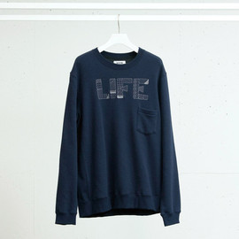 FACTOTUM - EMBROIDERY SWEAT CREW NECK