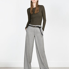ZARA - WIDE LEG TROUSERS