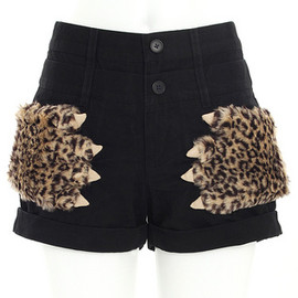 Candy Stripper - LEOPARD MONSTER HAND SHORTS