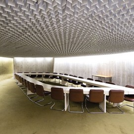 "Oscar Niemeyer - Conference Room for ""Communist Party"" Building, Paris"