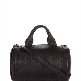 Alexander Wang - Alexander Wang Rocco In Pebbled Black With Black Nickel