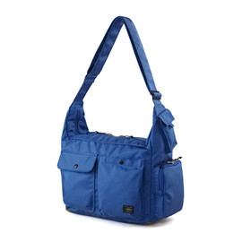 "HEAD PORTER - ""JACKSON"" SHOULDER BAG BLUE"