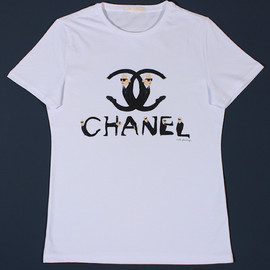 CHANEL & KARL LAGERFELD - Tee Shirts Re-Envision Iconic Designers As Their Logos