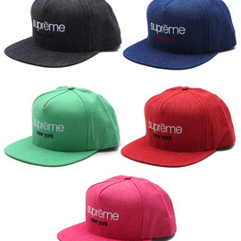 Supreme - Classic Logo Denim 5-Panel CAP