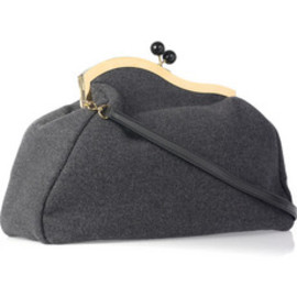 miu miu - Asymmetric oversized wool-felt clutch