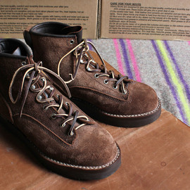 VIBERG - 6 Lace to Toe Brown Suede