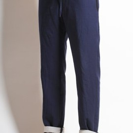 DRIES VAN NOTEN - 'Prosa' Drawstring Pant in Blue
