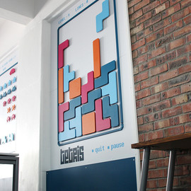 New Media Labs - Tetlis wall art