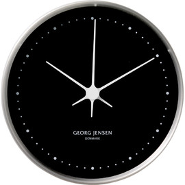 Georg Jensen - KOPPEL 10 cm wall clock, stainless steel with black dial