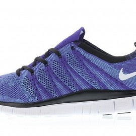 Nike - Nike Free Flyknit NSW/Crt Purple/White-Polarized Blue-Black