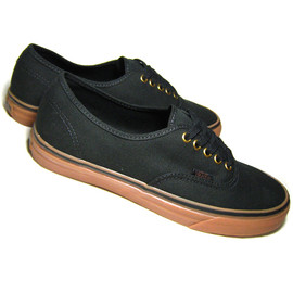 VANS - AUTHENTIC BLACK/RUBBER