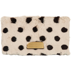 marc by marc jacobs - Too Hot To Party Polka-Dot Fur Fold-Over Clutch