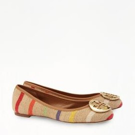 TORY BURCH - STRIPED REVA BALLET FLAT