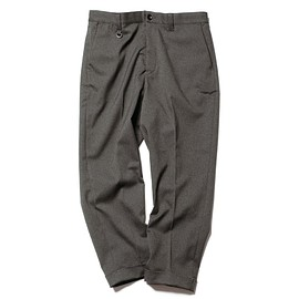 SOPHNET. - SOLOTEX FULFLAN STRETCH SERGE TURN UP WIDE TAPERED PANTS