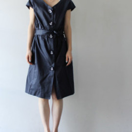 Yasue Carter - [Yasue Carter] Anchor Button Dress