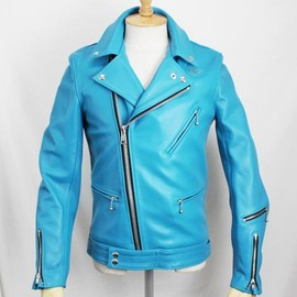 Lewis Leathers - Tight Fit Cyclone (Turquoise)