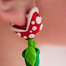 lizglizz - YOUCH Piranha Plant Earrings