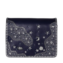 VALENTINO - Pre-Fall 2015 Navy calf leather bag