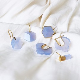 talkative - CUBE / CREST / STICK Blue Chalcedony