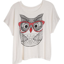 dELiAs - Owl with Glasses Tee