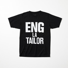 uniform experiment - uniform experiment x ENGLATAILOR S/S BIG MESSAGE TEE