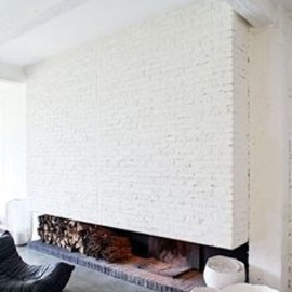 brick + fireplace.