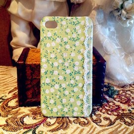 hallomall - DIY Retro Lace Fabric IPhone 4/4S Case