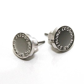 MARC BY MARC JACOBS - ARGENTO ピアス LOGO DISC STUDS