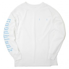 Goodblank - Shade Logo Long Sleeve TEE WHT×AQUA