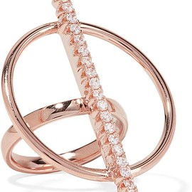 Ryan Storer - Rose gold-plated crystal ring