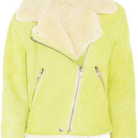 Acne - Rita shearling biker jacket