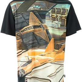 Opening Ceremony - Opening Ceremony x Syd Mead 'Jet Fighter' Tシャツ