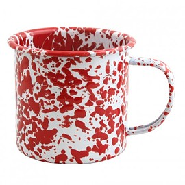 Fishs Eddy - Red Speckle Enamel Mug