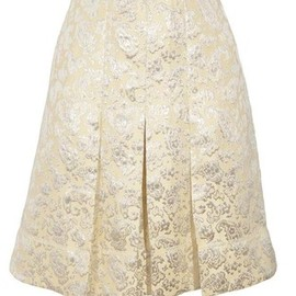 MARC JACOBS - MARC JACOBS Pleated brocade skirt