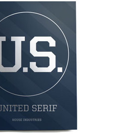 House Industries - Navy United Serif Print