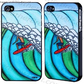 Heather Brown|Surf Art - Double Overhead IPhone Case